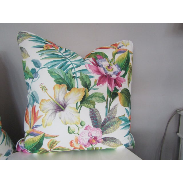Custom Made , New and in perfect condition are this pair of Colorful Accent Pillows. This pair of pillow have one side of...