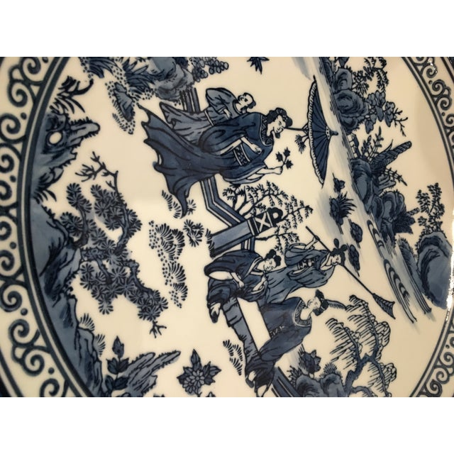Chinese Tozai Home Blue & White Bowl For Sale In Chicago - Image 6 of 8