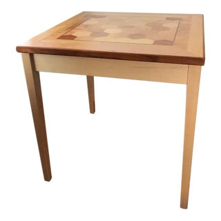 Inlaid Wood Table For Sale