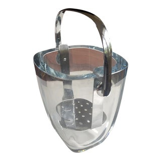 Vintage Stromberg Blown Glass Caviar Ice Bucket For Sale