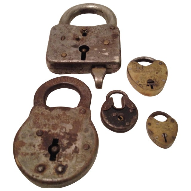 Assorted Antique Locks - Set of 5 - Image 1 of 6