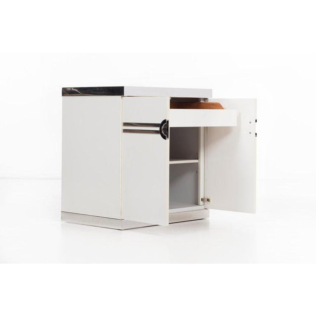 Chrome Pierre Cardin Pair of Nightstands For Sale - Image 7 of 13