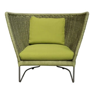Francesco Rota Paola Lenti 'Ami' Green Armchair For Sale