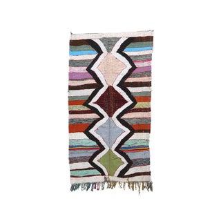 "Kilim Boucherouite Moroccan Kilim, 4'4"" X 7'7"" Feet"