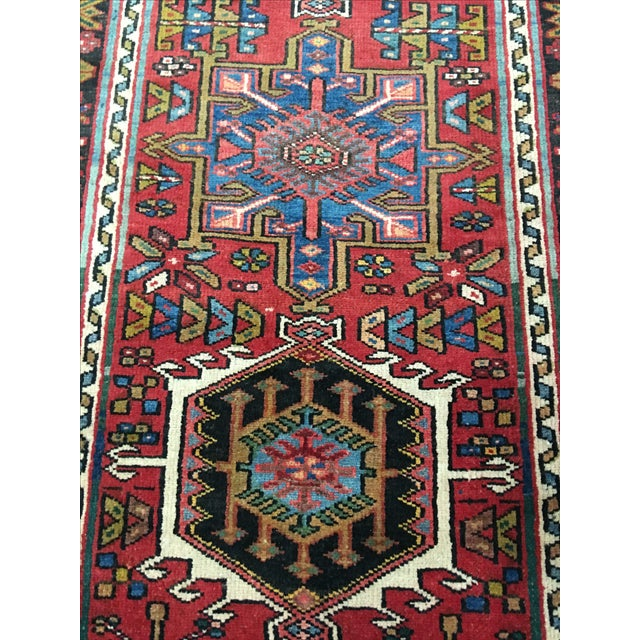 "Vintage Karajeh Persian Runner - 2'10"" X 10'4"" - Image 4 of 7"