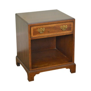Henredon 18th Century Portfolio George III Style Walnut 1 Drawer Nightstand