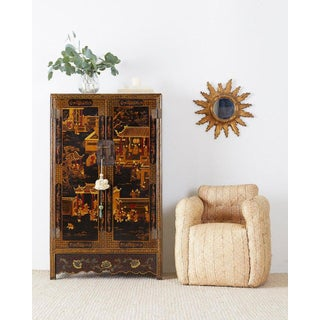 Chinese Export Two-Door Lacquered Wedding Style Cabinet Preview