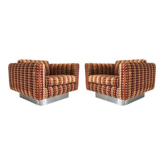 Fantastic Pair of Milo Baughman Lounge Chairs For Sale