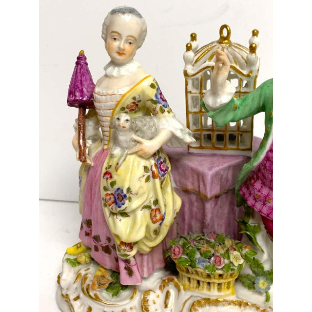 Late 19th Century 19th Century Meissen Birdcage Grouping For Sale - Image 5 of 12