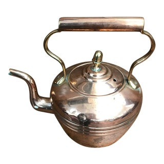 Late 19th Century Vintage Small Copper Kettle For Sale