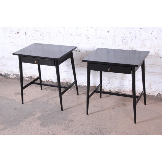 1950s Paul McCobb Planner Group Nightstands or End Tables - a Pair For Sale - Image 5 of 12