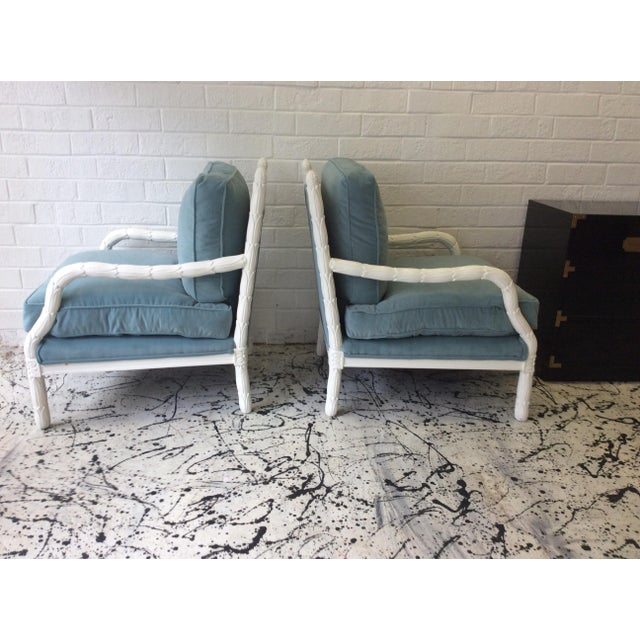 Lacquered Faux-Bios Fauteuils - A Pair - Image 3 of 7