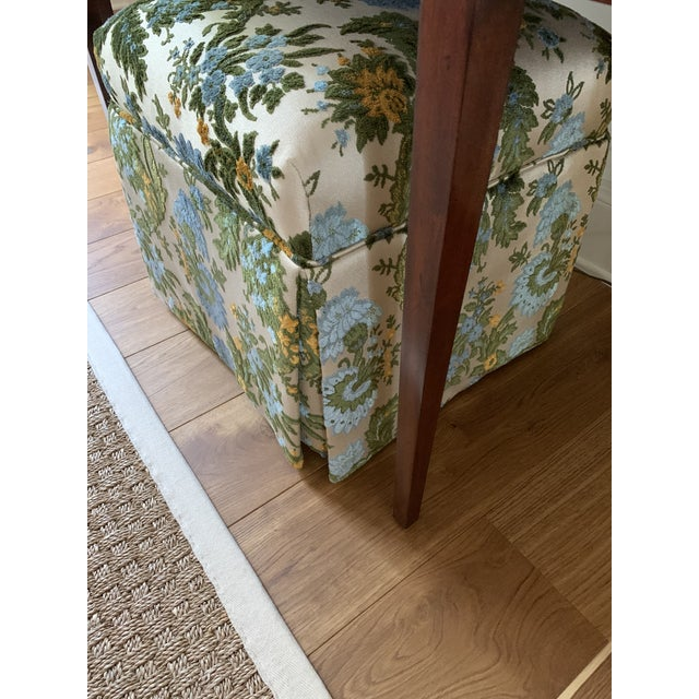 Vintage Mid Century Skirted Parsons Stool For Sale In Savannah - Image 6 of 10