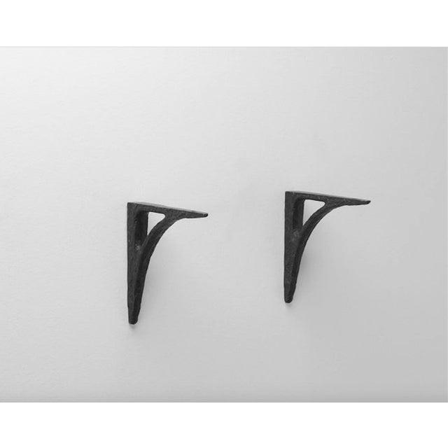 Modern Cast Iron Black Shelf Brackets - Set of 6 - Image 7 of 11
