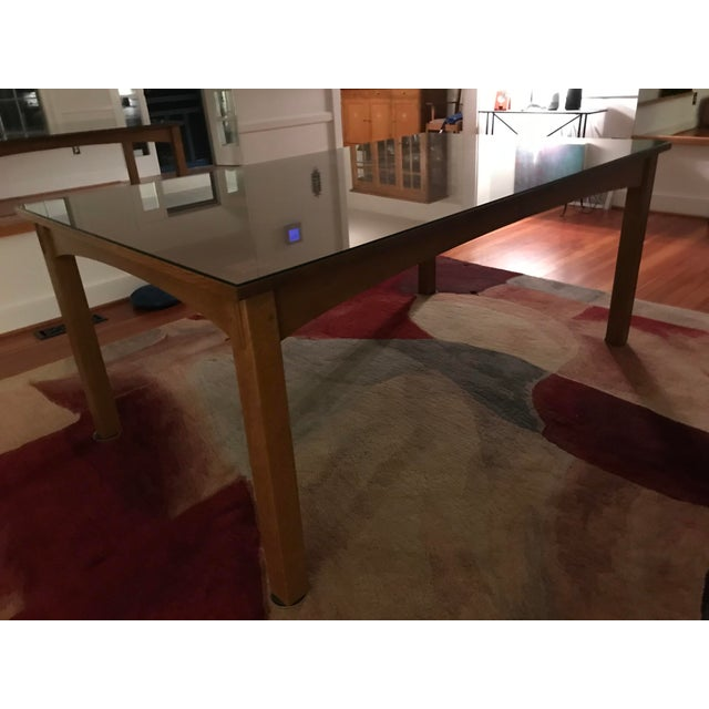 Stickley Harvey Ellis for Stickley Furniture Dining Table With Inlay on Four Corners For Sale - Image 4 of 7