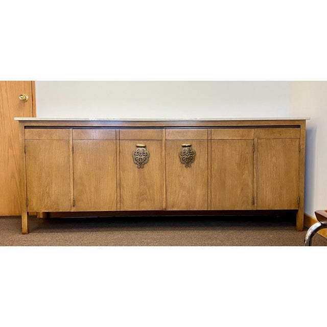 We are very pleased to offer a beautiful, Asian influenced credenza by Bert England for Johnson Furniture Company, circa...