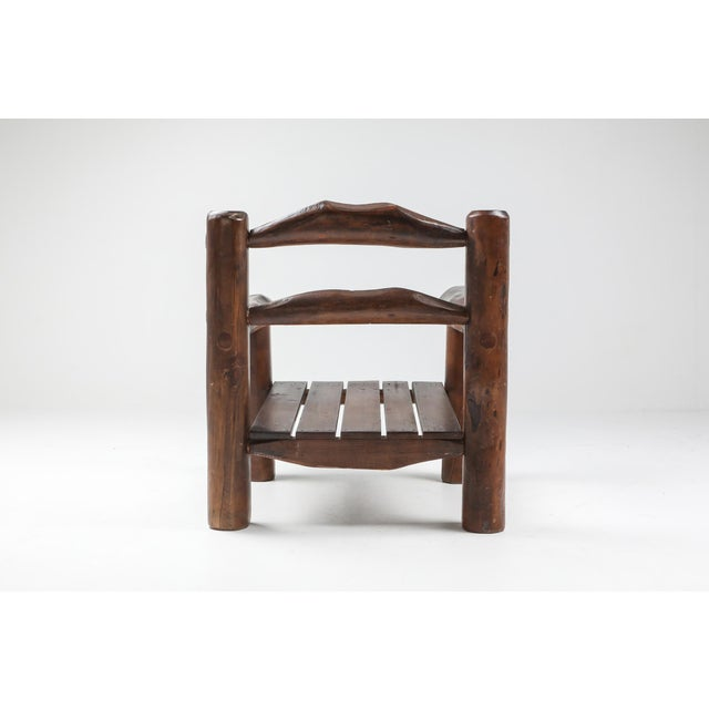 Wood 1950s Rustic Wooden Wabi Sabi Lounge Chairs For Sale - Image 7 of 11