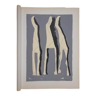 1959 Vintage Ltd. Ed. Marino Marini Silkscreen-Equine-Folio Size For Sale