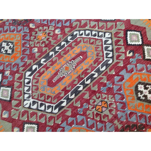 Vintage Turkish Kilim Rug - 6′10″ × 10′ - Image 5 of 7