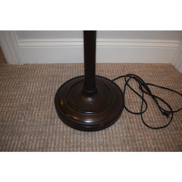 Restoration Hardware Bronze Floor Lamp & Shade - Image 3 of 5