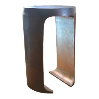 Kade Deep Bronze Finish Aluminum Accent Table For Sale