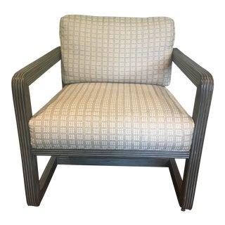 Modern Palecek Rattan Lounge Chair For Sale