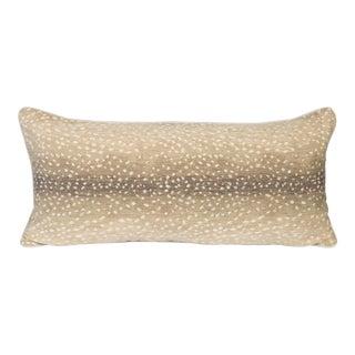 Stone Antelope Large Lumbar Pillow For Sale