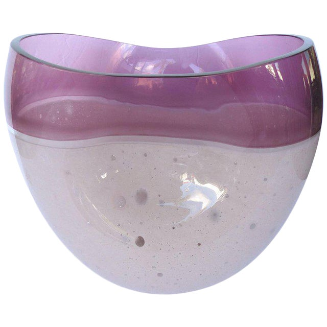 Luxury Large Blown Art Glass Vase By Alfredo Barbini For Ogetti