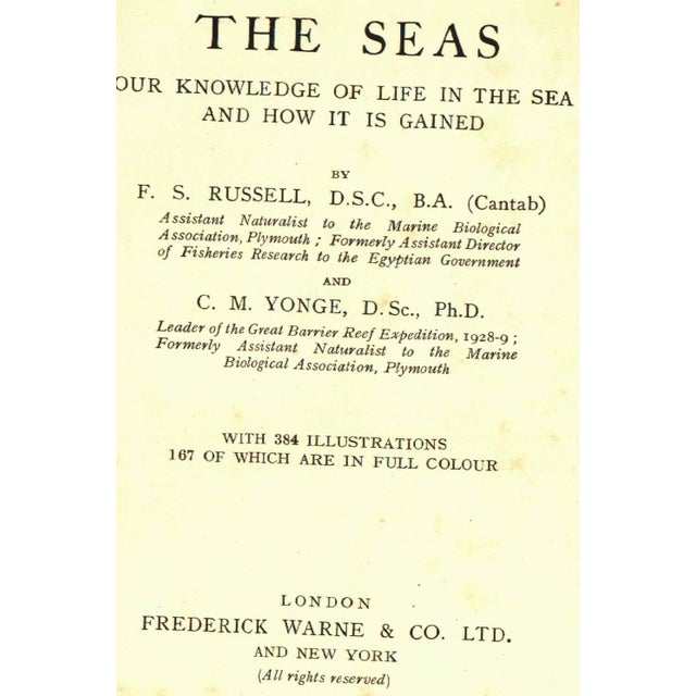 Traditional 1928 The Seas Hardcover Book with Illustrations For Sale - Image 3 of 6