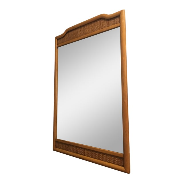 French Indochine Style Mid Century Pier / Console Mirror (4 Ft) For Sale