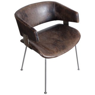 Patinated armchair by Geoffrey Harcourt for Artifort For Sale