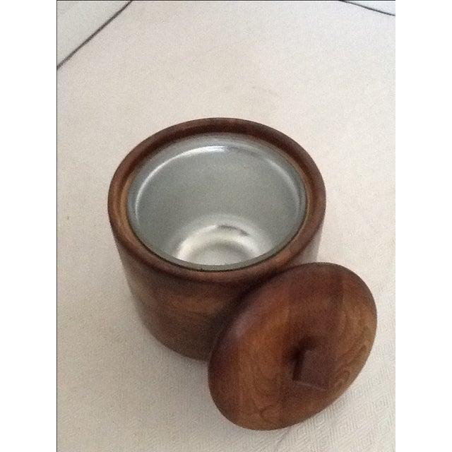 Mid-Century Wood Ice Bucket For Sale - Image 4 of 5