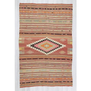 Handwoven Large Turkish Kilim Rug - 7′ × 10′9″ Preview