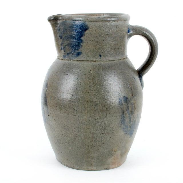 Circa 1870 Baltimore Floral Stoneware Pitcher - Image 4 of 11