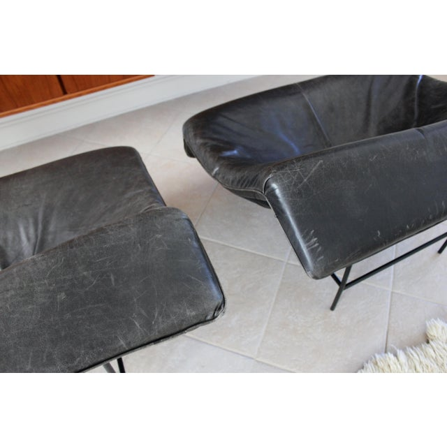 Black Vintage Gerard Van Den Berg Butterfly Chairs- a Pair For Sale - Image 8 of 10