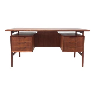 Vintage Teak Desk by Gunni Omann For Sale