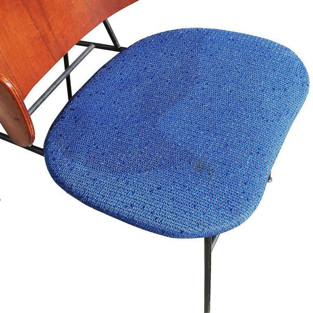 "1950s Ib Kofod-Larsen ""Penguin"" Iron and Molded Birch Danish Lounge Chair For Sale In Los Angeles - Image 6 of 8"