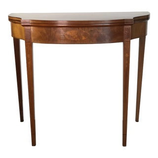 19th Century Fliptop Console Game Table For Sale