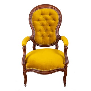Vintage Mustard Color Arm Chairs- A Pair Preview