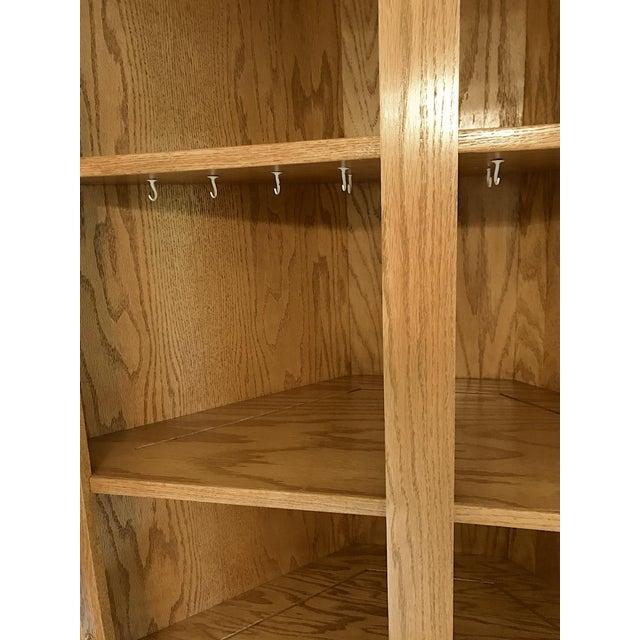 Solid Oak Corner Display Cabinet For Sale - Image 10 of 12