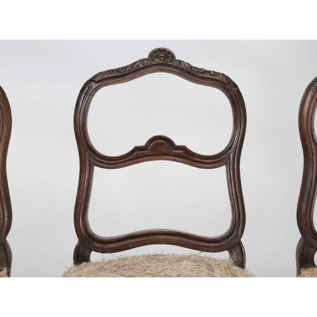 French Antique Carved Parlor Chairs - Set of 6 For Sale - Image 4 of 12
