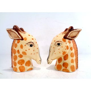 Vintage Fitz and Floyd Porcelain Giraffe Safari Bookends ~ a Pair Preview