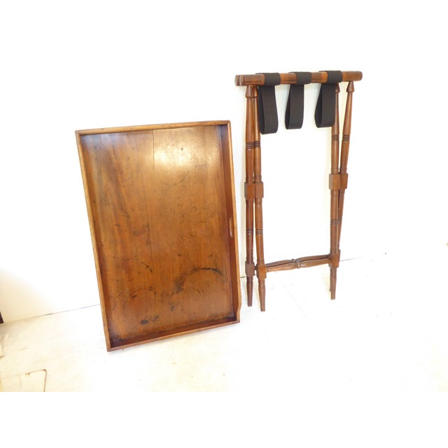 19th Century English Mahogany Butlers Tray on Stand For Sale - Image 4 of 5