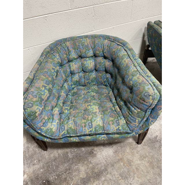 1970s 1970s Castro Convertible Barrel Chairs - a Pair For Sale - Image 5 of 8