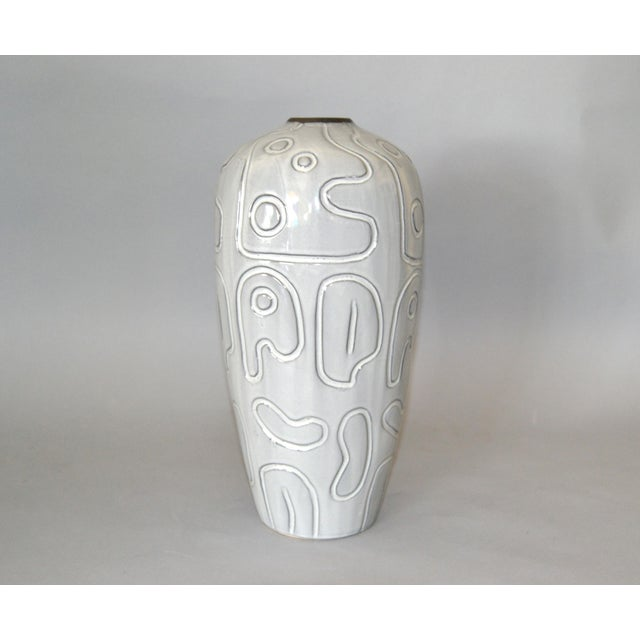 Modern Glazed Pottery Gray Vase For Sale - Image 9 of 9