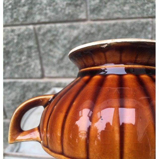 Vintage Amber Pedestal Bowls - Set of 4 - Image 4 of 8