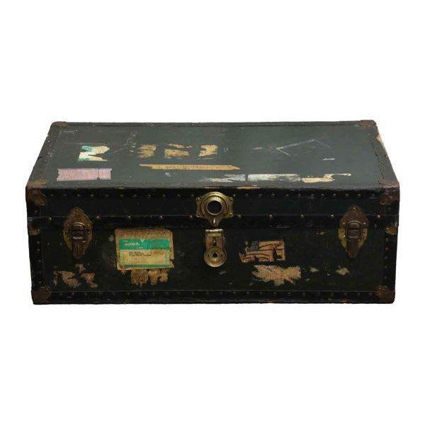 Antique Trunk With Bronze Hardware - Image 2 of 9