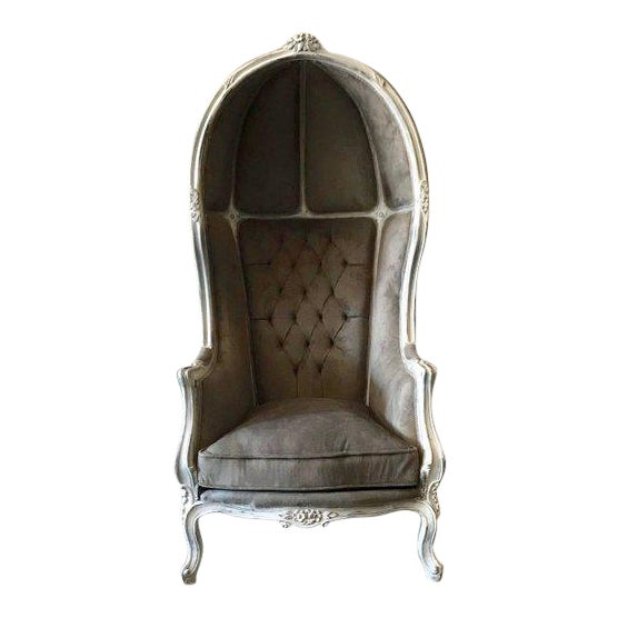 Tufted Throne Balloon Chair For Sale