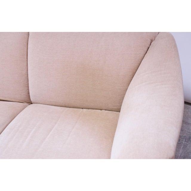 Peach 1970s Tentazione Loveseat Two-Seat Sofa by Mario Bellini for Cassina For Sale - Image 8 of 13