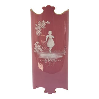 Victorian French Style Pink Vase For Sale